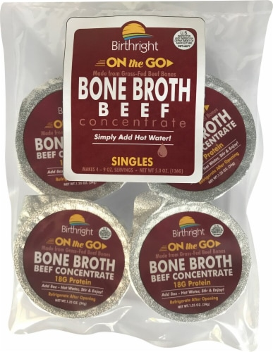 Birthright  On The Go Bone Broth   Beef Perspective: front