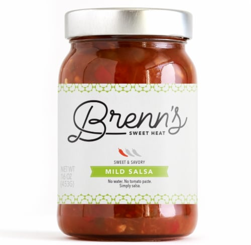 Brenn's Sweet Heat Mild Salsa Perspective: front