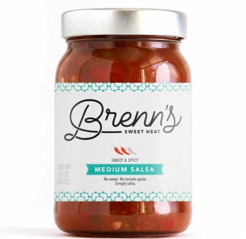 Brenn's Sweet Heat Medium Salsa Perspective: front