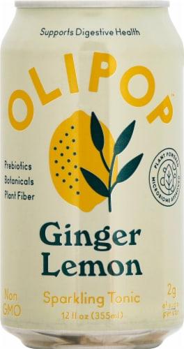 Olipop Ginger Lemon Sparkling Tonic Perspective: front