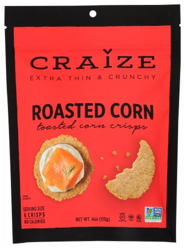 Craize Roasted Corn Crisps Perspective: front