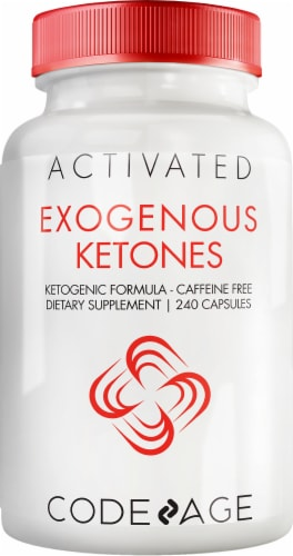Codeage Exogenous Ketones Caffeine Free Activated Dietary Supplement Capsules Perspective: front