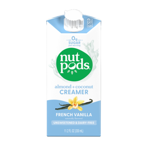 Nutpods Unsweetened Vanilla Dairy-Free Creamer Perspective: front