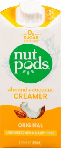 Nutpods Original Unsweetened Dairy Free Creamer Perspective: front