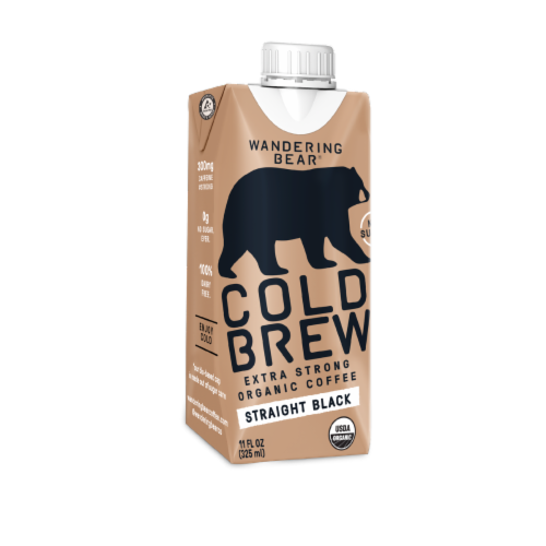 Wandering Bear Organic Straight Black Cold Brew Coffee Perspective: front