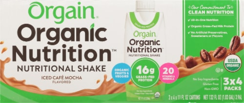 Orgain Iced Café Mocha Organic Nutritional Shake Perspective: front