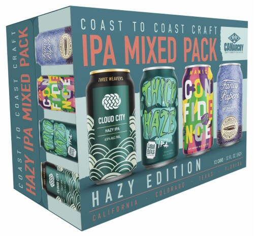CANarchy Coast to Coast Craft IPA Mixed Pack Perspective: front
