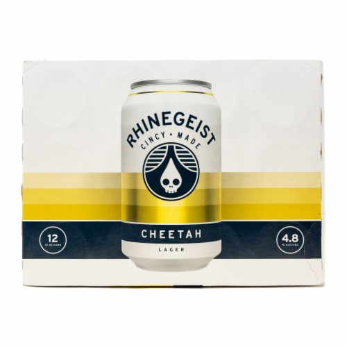 Rhinegeist Cheetah Lager Perspective: front