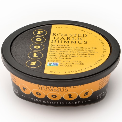 Roots Roasted Garlic Hummus Perspective: front