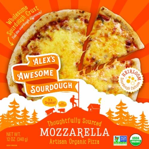 Alex's Awesome Sourdough Organic Mozzarella Sourdough Pizza Perspective: front