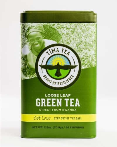 Organic Green Loose Leaf Tea Perspective: front
