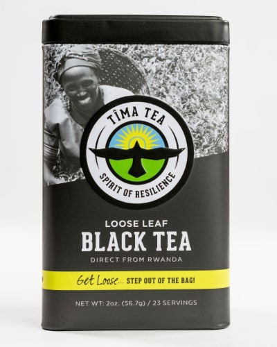 Organic Black Loose Leaf Tea Perspective: front