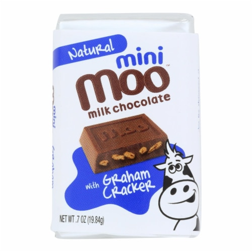 Natural Mini Moo Milk Chocolate With Graham Cracker  - Case of 14 - .07 OZ Perspective: front