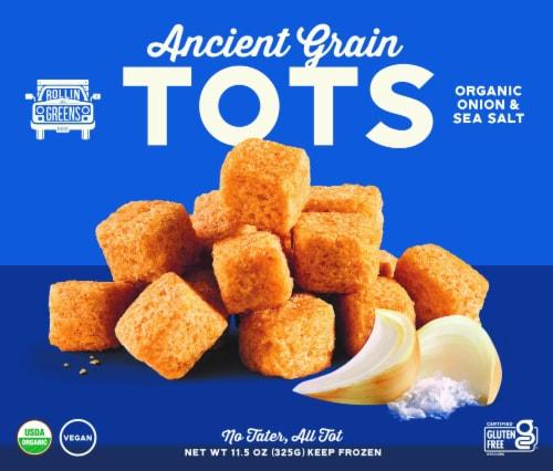 RollinGreens Organic Onion & Sea Salt Ancient Grain Millet Tots Perspective: front