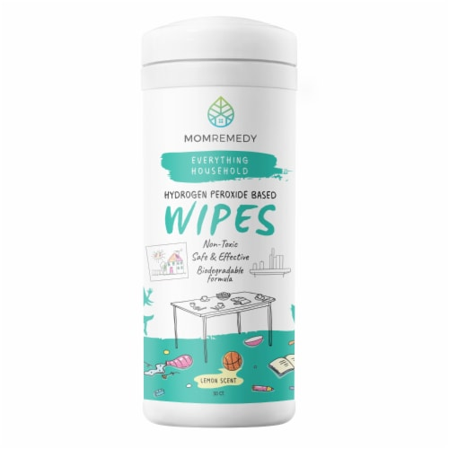 MomRemedy Hydrogen Peroxide Wipes Perspective: front
