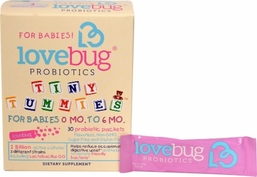 LoveBug Probiotics  Tiny Tummies™ For Babies 0 -6 Mo Perspective: front