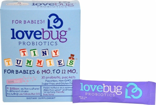 LoveBug Probiotics  Tiny Tummies™ For Babies 6 -12 Mo Perspective: front