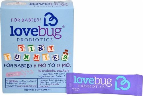 LoveBug Probiotics  Tiny Tummies™ For Babies 6 -12 Mo Perspective: front