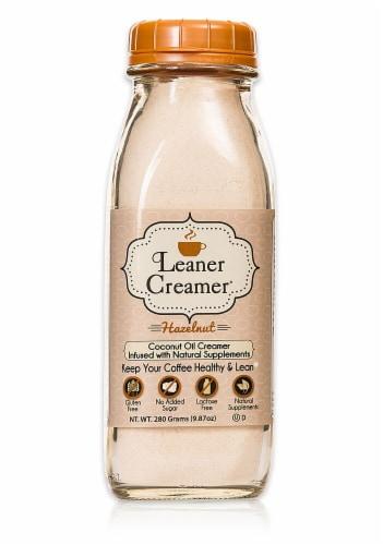Leaner Creamer  Coconut Oil Creamer   Hazelnut Perspective: front