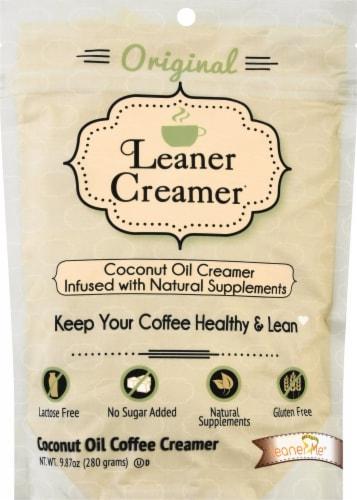 Leaner Creamer Coconut Oil Creamer Refill Original Perspective: front