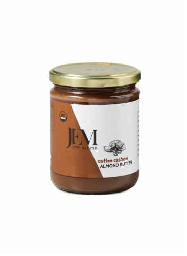 Jem Raw Organic Coffee Cashew Almond Butter Perspective: front