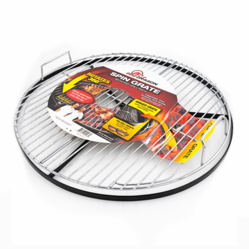 BBQ Dragon Grill Rack Spin Grate Perspective: front