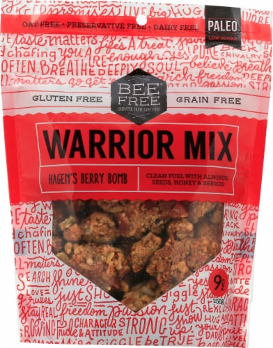 BeeFree Berry Bomb Warrior Mix Granola Perspective: front