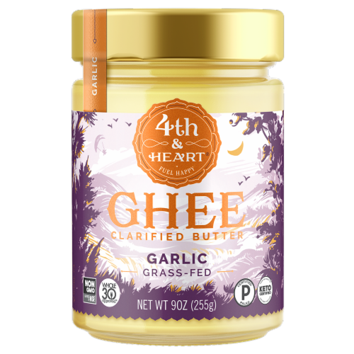 4th & Heart Garlic Ghee Perspective: front