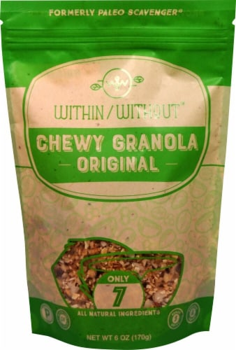 Within Without  Chewy Granola Gluten Free Paleo   Original Perspective: front