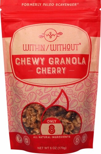 Within Without  Chewy Granola Gluten Free Paleo   Cherry Perspective: front