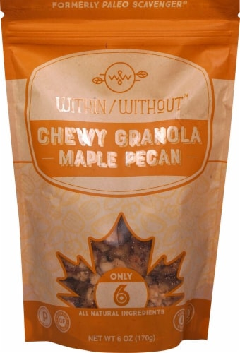 Within Without  Chewy Granola Gluten Free Paleo   Maple Pecan Perspective: front