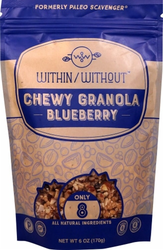 Within Without  Chewy Granola Gluten Free Paleo   Blueberry Perspective: front