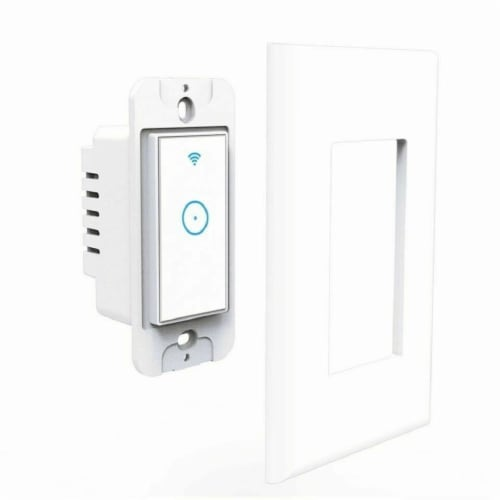 Smart Switch Wall Light WiFi Remote Compatible For Alexa & Google IFTTT Control Smart Life Perspective: front