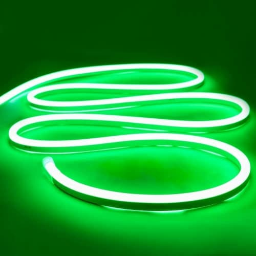 12V Flexible LED Strip Waterproof Sign Neon Lights Silicone Tube (3M - 10 FT) green Perspective: front