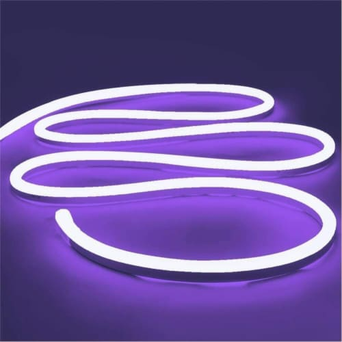 12V Flexible LED Strip Waterproof Sign Neon Lights Silicone Tube (5M - 16.4 FT) purple Perspective: front