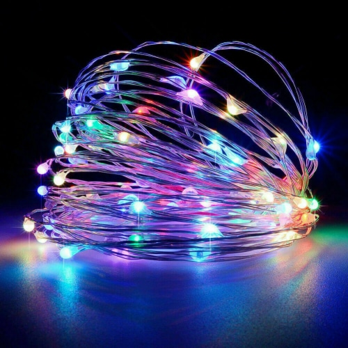 LED Christmas Tree Fairy String Party Lights Lamp Xmas Waterproof (multicolor 50 LED) Perspective: front