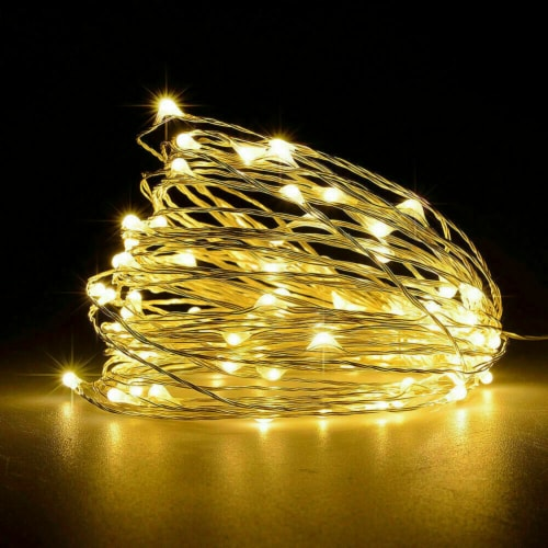 LED Christmas Tree Fairy String Party Lights Lamp Xmas Waterproof (warm white 50 LED) Perspective: front