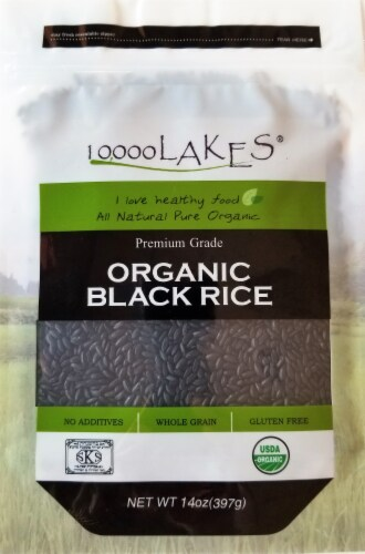 10000 Lakes Organic Black Rice Perspective: front