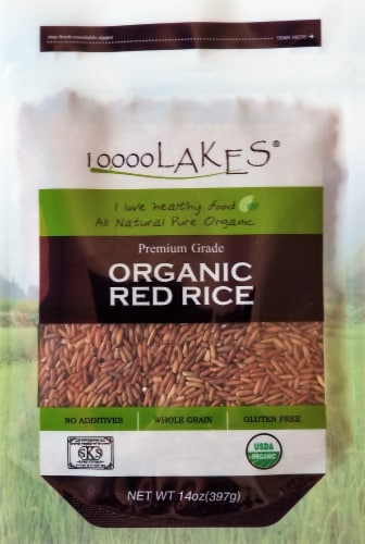 10000 Lakes Organic Red Rice Perspective: front