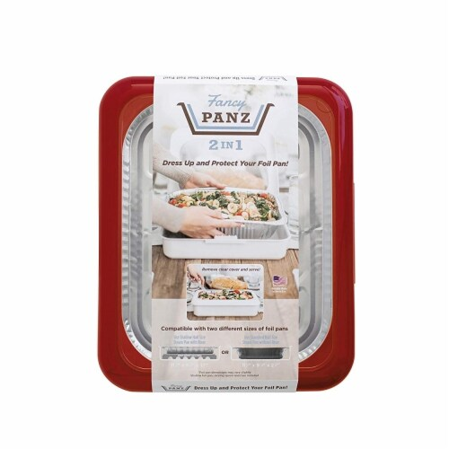 Fancy Panz Foil Pan Container, Red Perspective: front