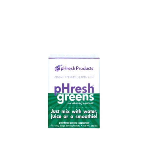 pHresh Products Greens ToGo Supplements Perspective: front