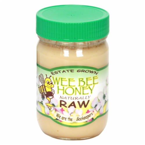Wee Bee Honey Naturally Raw Honey Perspective: front