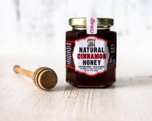 Heaven's Honey Inc Local Cinnamon Honey Perspective: front