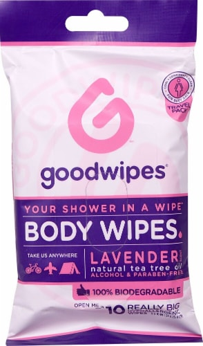 Goodwipes Lavender Body Wipes For Gals Travel Pack Perspective: front