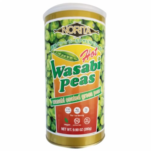 Norita Hot Wasabi Peas Perspective: front
