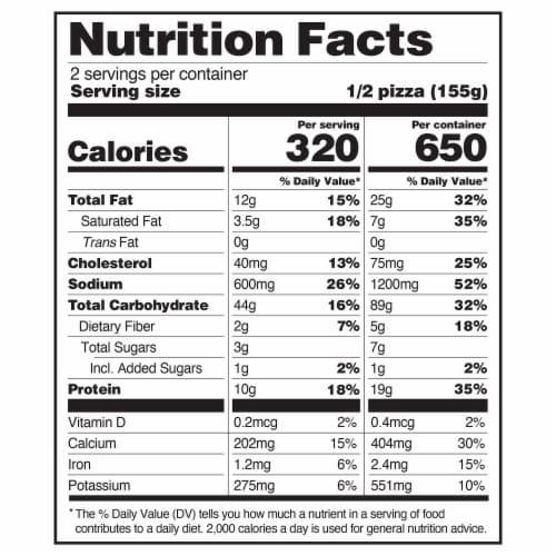 Caulipower Veggie Cauliflower Pizza Perspective: front