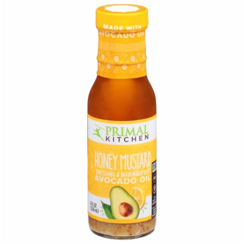 Primal Kitchen Honey Mustard Vinaigrette With Avocado Oil Perspective: front