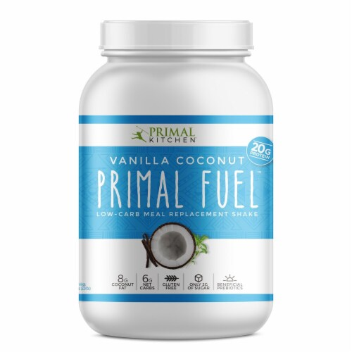 Primal Kitchen  Primal Fuel™ Whey Protein Drink Mix   Vanilla Coconut Perspective: front