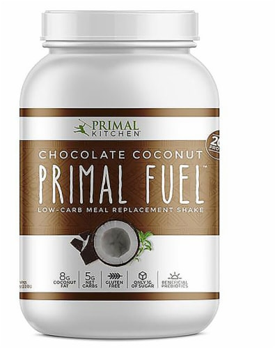 Primal Kitchen  Primal Fuel™ Whey Protein Drink Mix   Chocolate Coconut Perspective: front