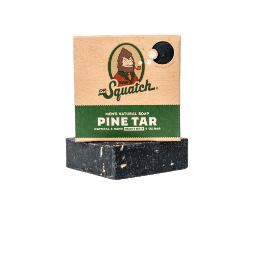 Dr. Squatch Pine Tar Natural Bar Soap Perspective: front